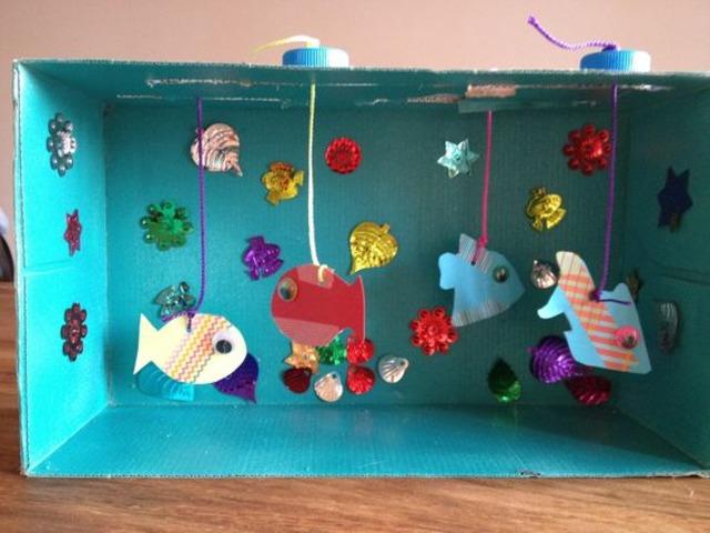 Как сделать аквариум своими руками из бумаги